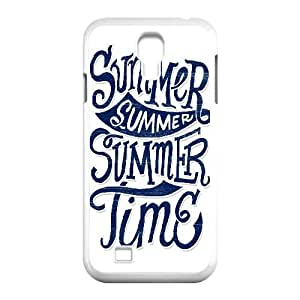 Binocara Typography Summer Time Samsung Galaxy S4 Case Cheap For Girls, Cell Phone Case For Samsung Galaxy S4 [White]