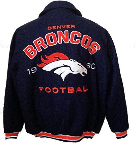 Denver Broncos wool jacket varsity style NFL coat (xxl)