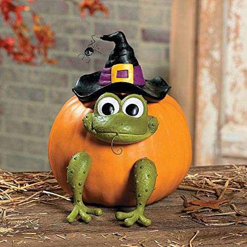 Fun Express Halloween Frog Witch Pumpkin Poke In Head and Legs - 1 Piece ()