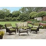 Amelia Cove 4-Piece Woven Patio Conversation Set, Seats 4 For Sale