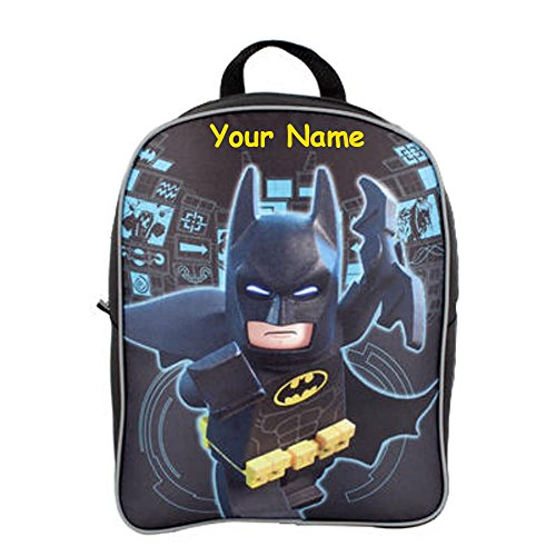 Personalized LEGO Batman in Action Back to School Backpack Book Bag - 15 (Batman Personalized)