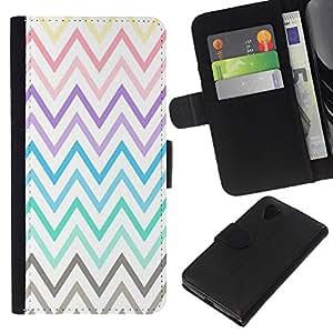 KLONGSHOP // Tirón de la caja Cartera de cuero con ranuras para tarjetas - Pastel púrpura del trullo Modelo amarillo - LG Nexus 5 D820 D821 //