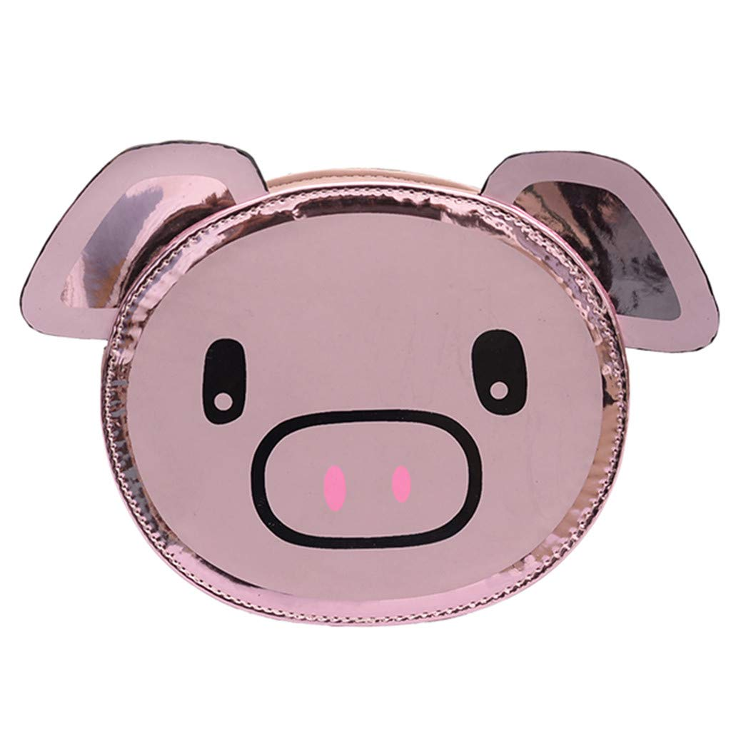 Fashion Girls Leather Chain Wild Cute Cartoon Pig Shoulder Messenger Bag