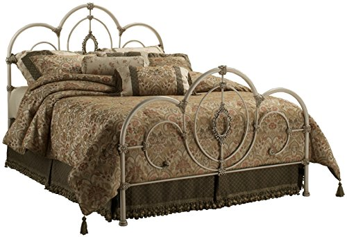 Hillsdale Furniture 1310BKR Victoria Bed Set with Rails, King, Antique White -