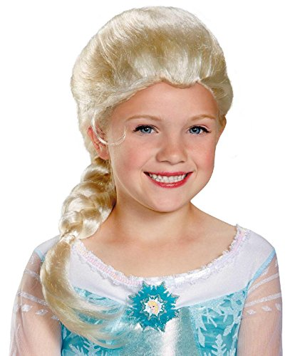 [Disguise Disney's Frozen Elsa Child Wig Girls Costume, One Size Child] (Elsa Costume With Wig)