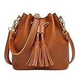 Ladies purse,Women Shoulder Bag Crossbody Messenger Bag with Tassel Leather Wallets Duseedik Clearance (Brown)