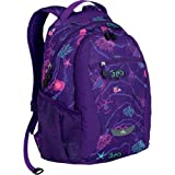 High Sierra Curve Backpack, Purple Pattern, 18.5×12.5×8.5-Inch, Outdoor Stuffs