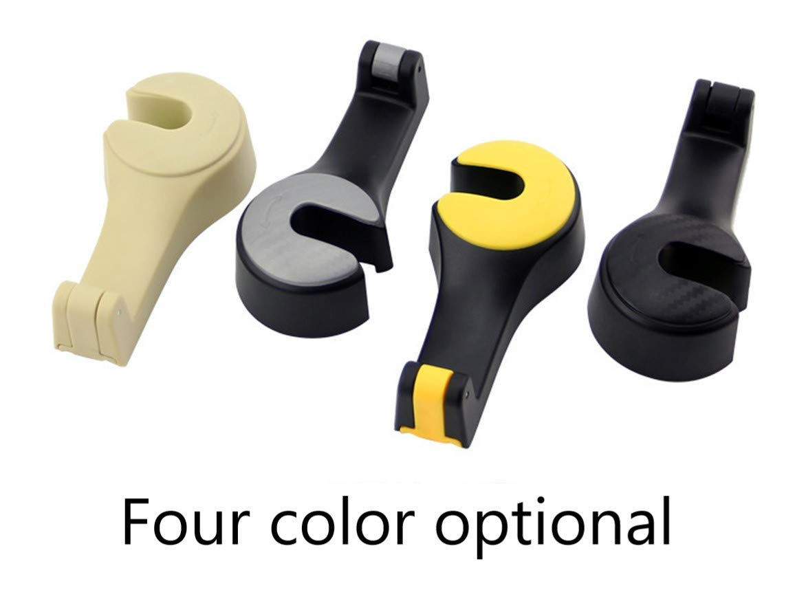 .! Car Headrest Hook and Telephone Bracket Two in one Universal Car Hooks LONGKANG Car Headrest Hook Set of 2 Yellow. Car Headrest Holder with Lock Car Hanger Hook Hang Purse or Grocery Bags