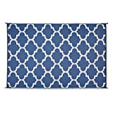 Guide Gear Moroccan Outdoor Rug, Blue/White, 9X12