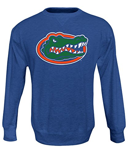 - Alta Gracia NCAA Florida Gators Men's Crew 50/50 Fleece Top, Blue, X-Large