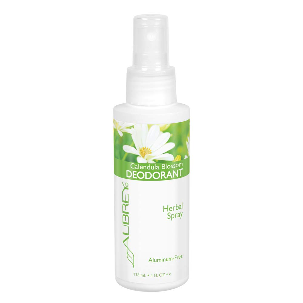 Aubrey Calendula Blossom Deodorant Spray | Aluminum-Free Herbal Formula Helps Keep You Feeling Fresh | Vitamin E & Arnica | 4oz