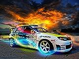 Cartoon world Ken Block Subaru Impreza Wrx car 24x32 inch Poster Waterproof Canvas F0175