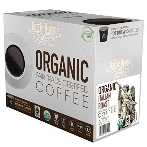 Barrie House Fair Trade Organic Italian Roast Single Serve Capsules (96 Capsules)