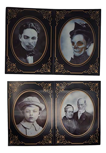 Holographic Horror Photos with Cardboard Frame Props -Set of Four (Each 5 x -