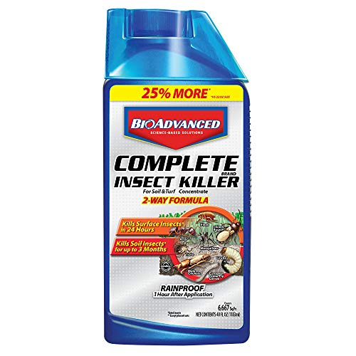 - Bayer Advanced 700270 Complete Insect Killer for Soil and Turf Concentrate, 40-Ounce