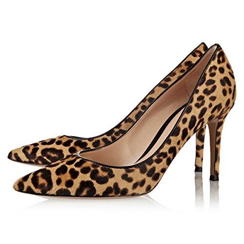 Tulostaa Teräväkärkiset 4 Kengät Leopardi Cm Meille Pumput Toe 8 Korkokengät Fsj Taivaisiin Mokka 15 Leopard Mitoittaa Naisten EnqpCxwX1g