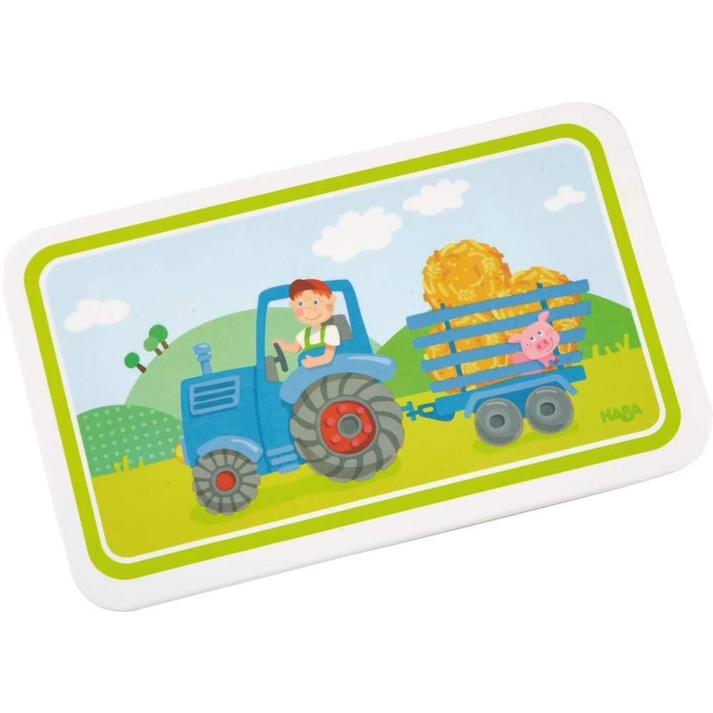 Haba Geschenkset Traktor 5-teilig Trinklerntasse mit Brotdose Taufgeschenk Mitbringsel Bauernhof
