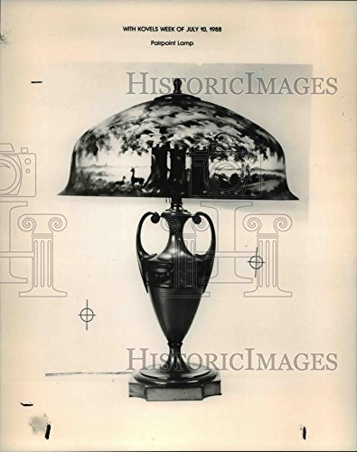 Historic Images 1988 Press Photo Pairpoint Lamp - 10 x 8 in