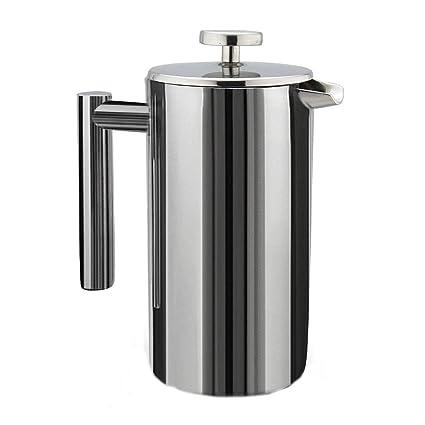 Máquina De Café/Té Con Espejo De Doble Pared De Acero Inoxidable Hofet (1L