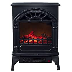 Electric Fireplace-Indoor Freestanding Space Heater with Faux Log and Flame Effect-Warm Classic Style for Bedroom, Living Room and More by Northwest from Northwest
