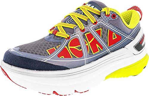 Hoka One One Femme 2 Constantes Gris, Chaussures De Course Sur Route Acides (1009641-gac) (10, Gris / Acide)