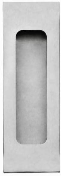 intersteel 120x 40mm Tirador de acero inoxidable satinado rectangular para puerta empotrada corredera
