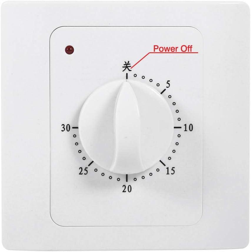 Naliovker AC 220V 10A 30 Min Timer per il Conto Alla Rovescia Interruttore Elettrico Digitale Interruttore di Controllo Della Spina Timer Presa un Manopola Stile Meccanico