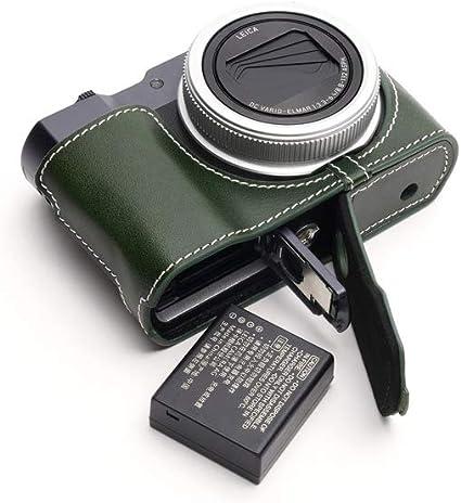 Handarbeit Aus Echtem Echtem Leder Halb Kamera Tasche Kamera