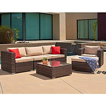 Amazon.com : SUNCROWN Outdoor Furniture Sectional Sofa ...