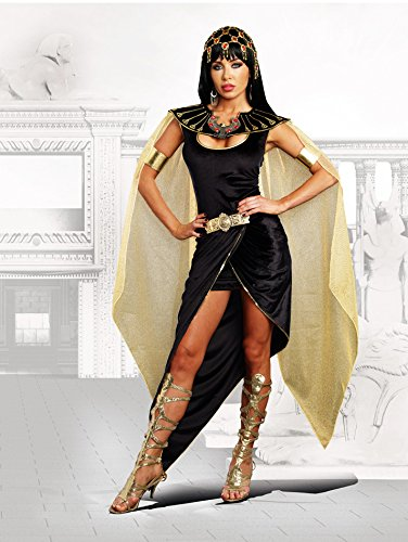 [Dreamgirl Women's Cleo Egyptian Queen Costume, Black, X-Large] (Ancient Egypt Costumes)