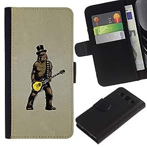 Lead-Star (Guitar Star Rock) Colorida Impresión Funda Cuero Monedero Caja Bolsa Cubierta Caja Piel Card Slots Para SAMSUNG Galaxy S3 III / i9300 / i747