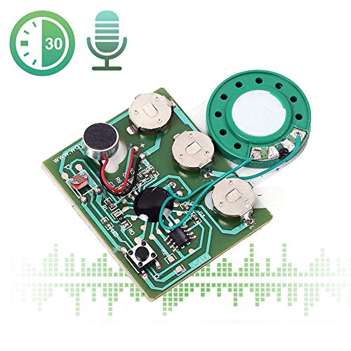 Icstation 30 Seconds Recorder Light Sensor Sound Module Voice Recording with MIC for Mother's Day DIY Musical Gift Box Speaking Greeting Card Birthday Christmas Valentine