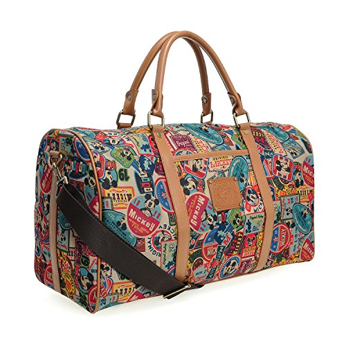 A123.Disney Mickey Mouse Men Women Travel Weekend Duffel Luggage Overnight Bag (Brown) by Disney