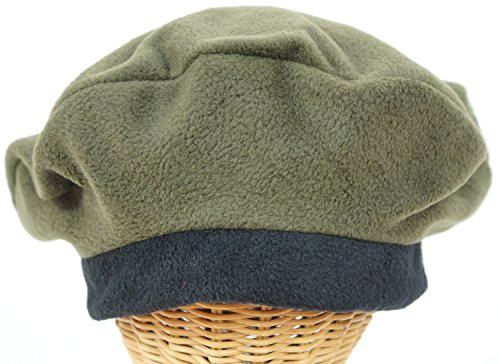 Women's Hand Crafted Fleece Beret #38FLOLIVE made in Massachusetts
