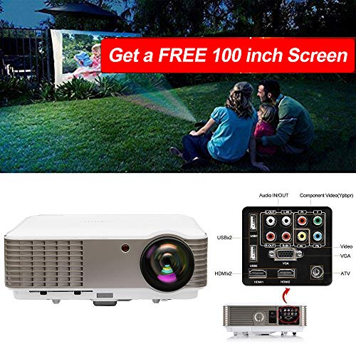 EUG Full HD LCD LED Digital Video Projector 3900 Lumen 1080P