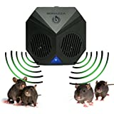 BONAZZA Mice Repellent Plug-in Ultrasonic Pest Repeller Best For Garages, Attics and Basements - Electronic Pests Control Products To Get Rid Of Rodent - Mouse & Rat Repellent