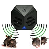BONAZZA Mice Repellent Plug-in Ultrasonic Pest Repeller Best For Garages, Attics and Basements - Electronic Pests Control Products To Get Rid Of Bugs Insects and Rodent - Mouse & Rat Repellent ()