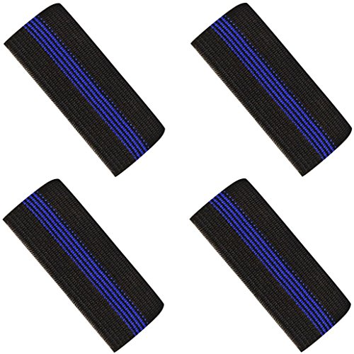 Mourning Bands for Badges - Thin Blue Line Elastic Mourning Bands - Funeral Honor Bands - 4 ()