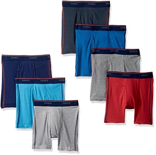 Hanes Big Boys' Red Label Comfort Flex Sport Boxer Briefs, Assorted, (Hanes Boys Red Label)