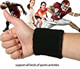 Kagogo 3 Inch Cotton Sports Wristband / Sweatband