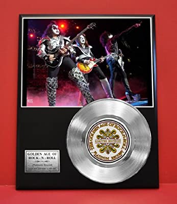 Kiss Limited Edition Platinum Record Display - Award Quality Music Memorabilia -