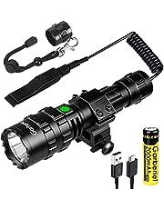 2 in 1 L2 LED Tactical Torch met Picatinny Rail Mount-5 Modes 3000 Lumens Heldere Zaklamp USB Oplaadbare Waterdichte Scout Light Zaklamp Jacht Licht
