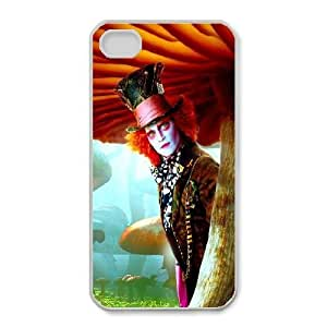 iphone4 4s case , Alice in Wonderland iphone4 4s Cell phone case White-YYTFG-18523
