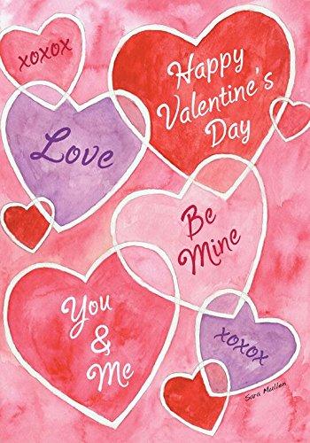 Valentine's Messages Garden Flag