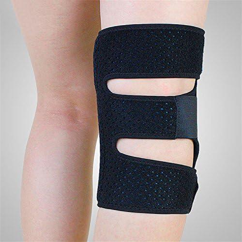 Atmungsaktive Kniebandage Knieorthese mit Gelkissen und seitlichen Schienen zur besseren Stabilisierung des Kniegelenks