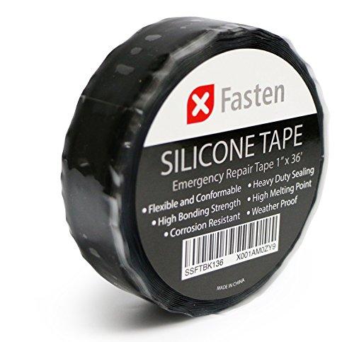 Emergency+Repair+Tape,+Self-Fusing+Silicone+Tape Products : XFasten Silicone Self Fusing Tape 1-Inch x 36-Foot (Black) Silicone Repair Tape