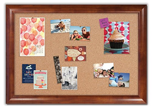 Framed Cork Board with Weston Honey Frame by The Cork Board Shop