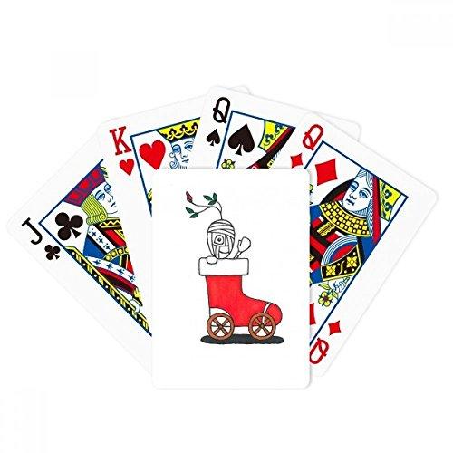 (DIYthinker Horus Christmas Sleigh Leaf Flower Poker Playing Card Tabletop Board Game Gift)