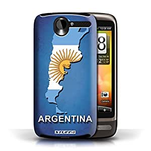 KOBALT? Protective Hard Back Phone Case / Cover for HTC Desire G7 | Argentina/Argentinean Design | Flag Nations Collection by lolosakes