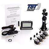 Truck System Technologies TPMS 4 Sensor Tire Monitor System w Flow Thru Sensors